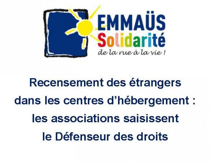 Recensement des étrangers dans les centres d'hébergement : les associations saisissent le Défenseur des droits