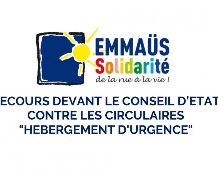Recours devant le Conseil d'Etat contre les circulaires «hébergement d'urgence»