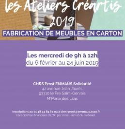 #CRÉATIS : Ateliers de fabrication de meubles en carton