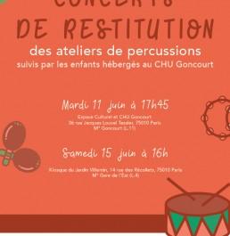 Concert de restitution - Ateliers de percussions