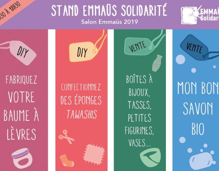 Salon Emmaüs 2019 : les ateliers d'EMMAÜS Solidarité