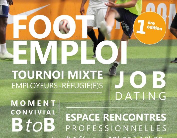 Sur un terrain de foot, un job dating avec des réfugiés