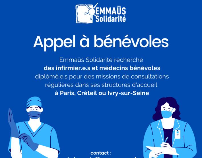 Recherche infirmiers et médecins bénévoles